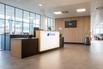 Brunel professions reception desk in our office
